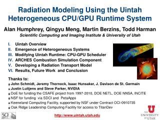 Radiation Modeling Using the Uintah Heterogeneous CPU/GPU Runtime System