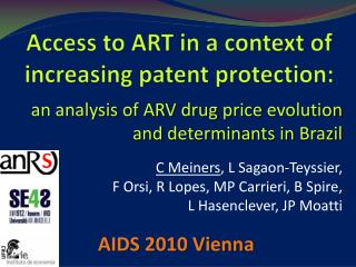Access to ART in a  context  of  increasing  patent protection: