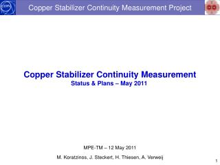 Copper Stabilizer Continuity Measurement Project
