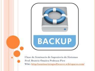 Clase de Seminario de Ingeniería de Sistemas Prof. Beatriz  Omaira  Pedraza Pico