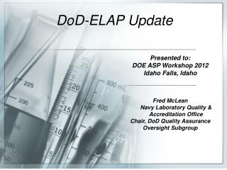 DoD-ELAP  Update