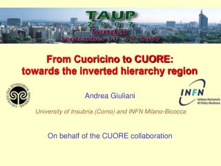 From Cuoricino to CUORE:  towards the inverted hierarchy region