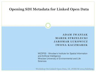 Opening  SDI  Metadata  for  Linked  Open Data