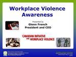 Workplace Violence Awareness