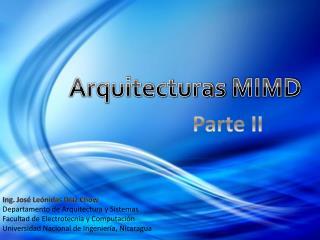 Arquitecturas  MIMD