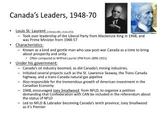 Canada's Leaders, 1948-70
