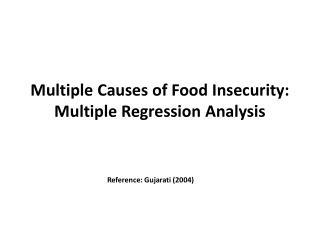 Multiple Causes of Food Insecurity: Multiple Regression Analysis