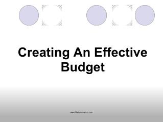 Creating an Effective Budget