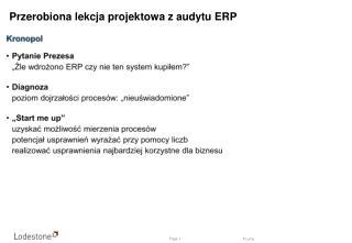 Przerobiona lekcja projektowa z audytu ERP