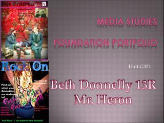 Media studies  FOUNDATION PORTFOLIO
