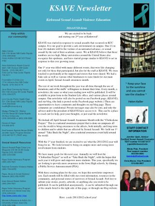KSAVE Newsletter