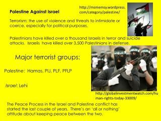 Palestine Against Israel