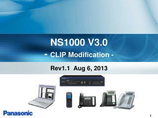 NS1000 V3.0 -  CLIP Modification -