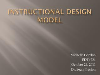 Instructional Design Model
