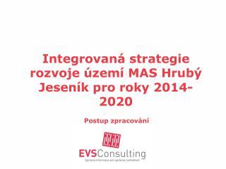 Integrovaná strategie rozvoje území MAS Hrubý Jeseník pro roky 2014-2020