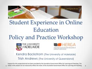 Student Experience in Online Education Policy and Practice Workshop