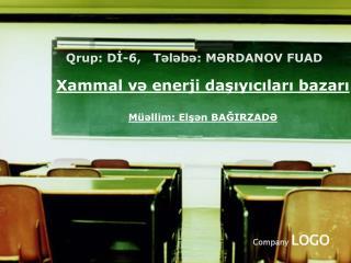 Xammal və enerji daşıyıcıları bazarı M üəllim: Elşən BAĞIRZADƏ