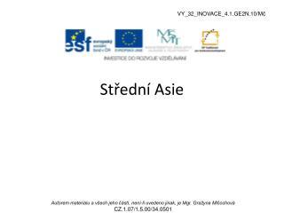 St?edn� Asie