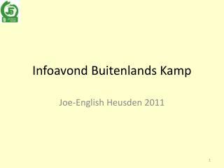 Infoavond Buitenlands Kamp