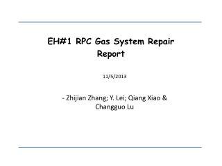 EH#1 RPC Gas System Repair  Report