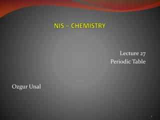 NIS –  CHEMISTRY