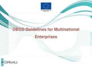 OECD Guidelines for Multinational Enterprises