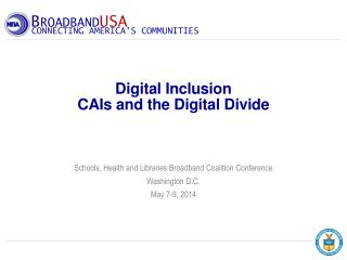 Digital Inclusion CAIs and the Digital Divide
