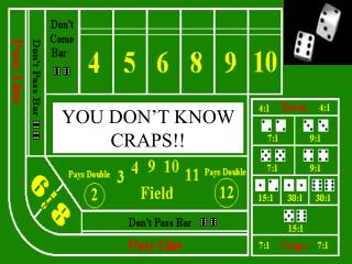 An Investigation Using Probability, the Geometric Distribution, and Expected Returns for the Game of Craps