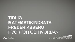 LENA LINDENSKOV LEKTOR, FORSKNINGSPROGRAMLEDER INSTITUT FOR UDDANNELSE OG PÆDAGGIK (DPU)
