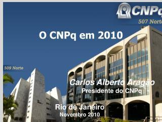 O CNPq em 2010