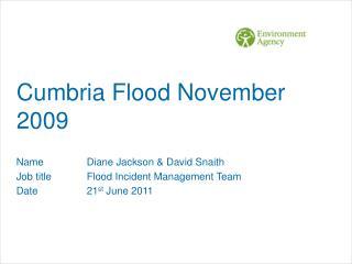 Cumbria Flood November 2009