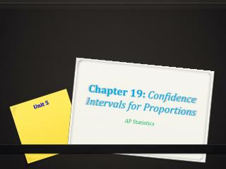Chapter 19:  Confidence Intervals for Proportions