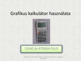 Grafikus kalkulátor használata