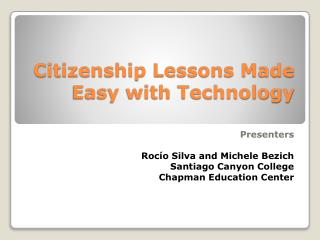 Citizenship Lessons Made Easy with Technology
