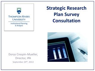 Strategic Research Plan Survey Consultation