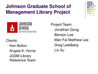 Johnson Graduate School of Management Library Project