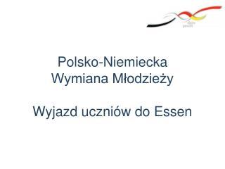 Polsko-Niemiecka  Wymiana Młodzieży  Wyjazd uczniów do Essen