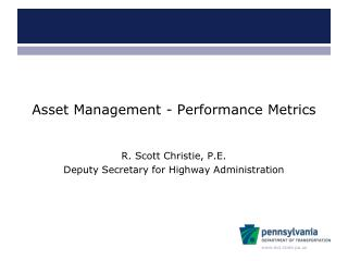Asset Management - Performance Metrics