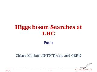 Higgs boson Searches at LHC