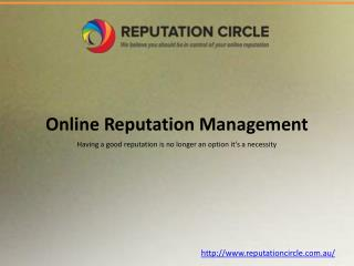 Why Online Reputation Management?