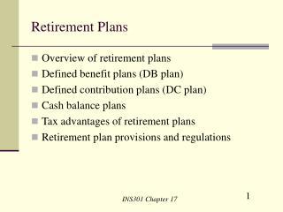 Retirement Benefit