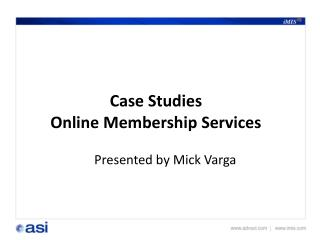 Case Studies  Online Membership Services