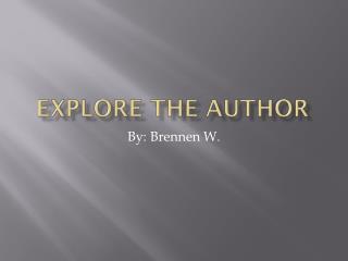 Explore the author