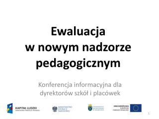 Ewaluacja  w nowym nadzorze pedagogicznym