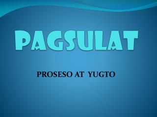 Pagsulat