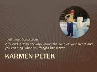 KARMEN PETEK