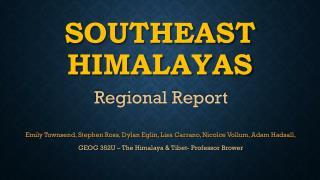 Southeast Himalayas