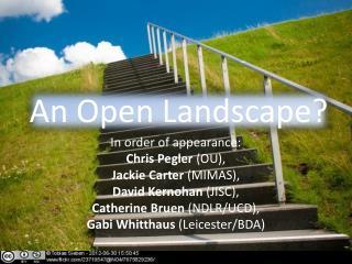 An Open Landscape?