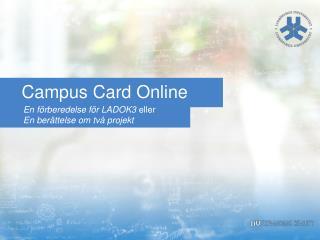 Campus  Card  Online