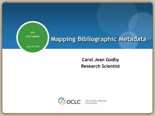 Mapping Bibliographic Metadata